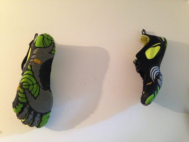 FiveFingers am Nagel