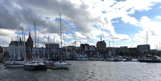 Rostocker Boote im Hafen