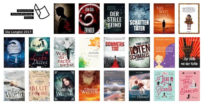 Die Longlist des 1. Deutschen-Selfpublishing-Preises