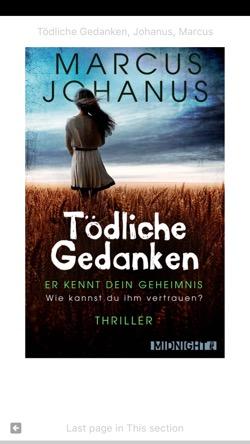 Cover: Tödliche Gedanken von Marcus Johanus