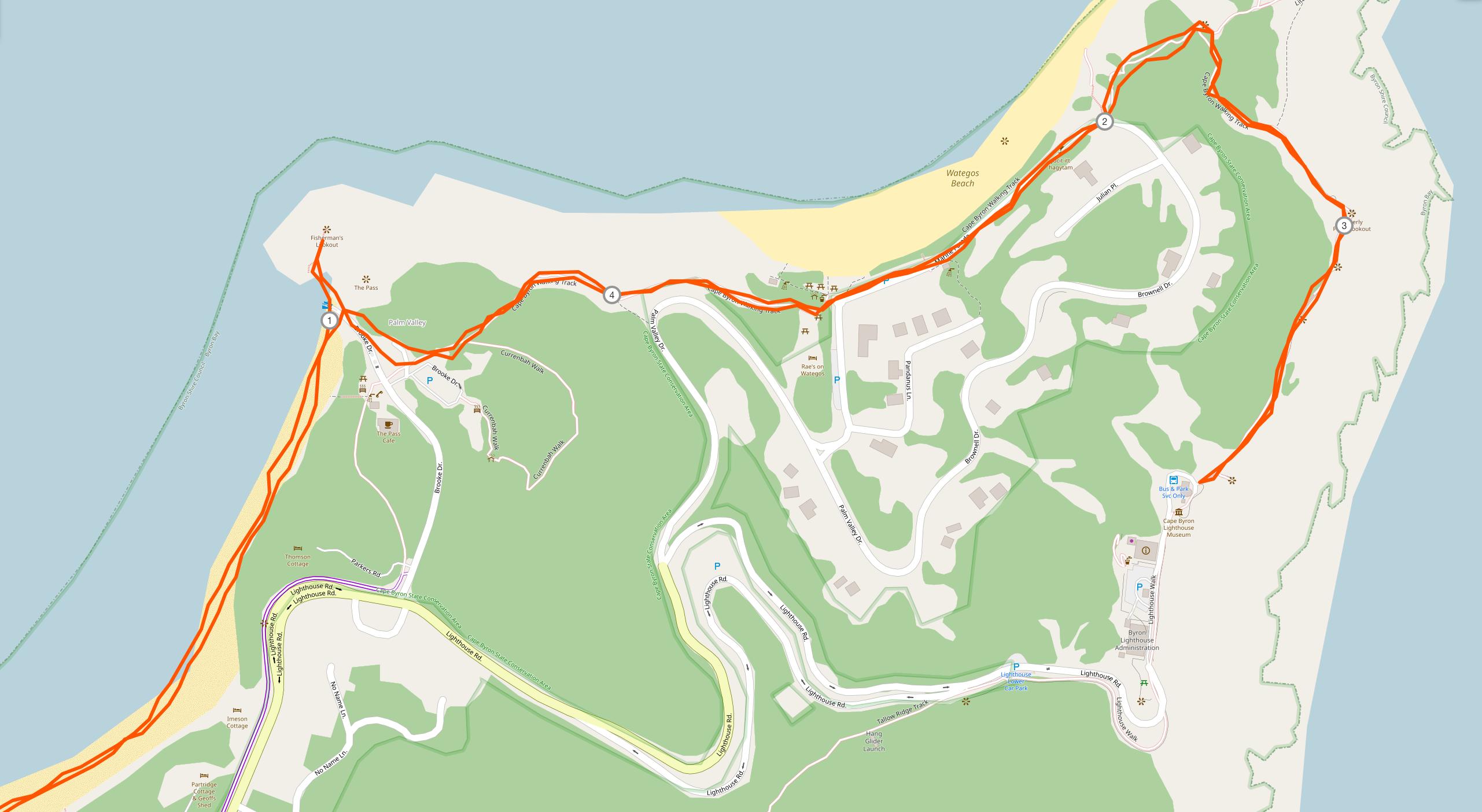 Weg zum Leuchtturm von Byron Bay