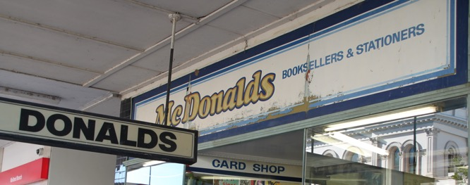 McDonalds-Buchladen in Maitland, Australien